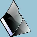Black, Empty, Folder Icon
