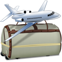 Airplane, Bags, Tourism, Travel Icon