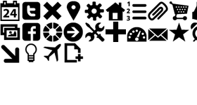 Free Black ToolBar Icons
