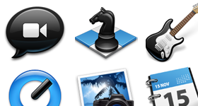 Black and Blue Icons