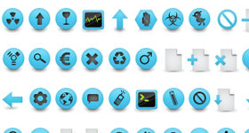 Blue Coral Icons