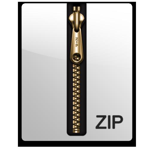 Gold, Zip Icon