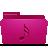 Folder, Music, Pink Icon