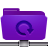 Backup, Folder, Remote, Violet Icon