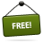 Free, Green, Sign Icon
