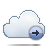 Cloud, Forward Icon