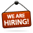 Are, Hiring, Sign, We Icon