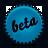 Beta, Blue, Splash Icon