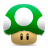 Mario, Mushroom, One, Super, Up Icon