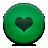Button, Green, Heart Icon