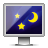 Glossy, Screen, Sleep Icon