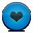Blue, Button, Heart Icon