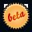 Beta, Orange, Splash Icon