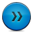 Blue, Button, Fastforward Icon