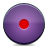 Button, Record, Violet Icon