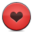 Button, Heart, Red Icon