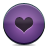 Button, Heart, Violet Icon