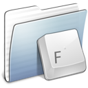 Folder, Fonts, Graphite, Stripped Icon