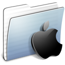 Apple, Folder, Graphite, Stripped Icon