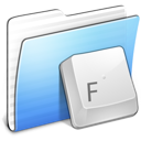 Aqua, Folder, Fonts, Stripped Icon