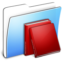 Books, Folder, Library Icon