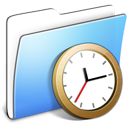 Aqua, Clock, Folder, Smooth Icon