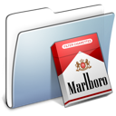 Folder, Graphite, Marlboro, Smooth Icon