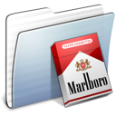 Folder, Graphite, Marlboro, Stripped Icon