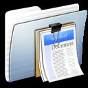 Documents, Folder, Graphite, Stripped Icon
