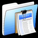 Aqua, Documents, Folder, Stripped Icon