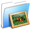 Aqua, Folder, Pictures, Smooth Icon
