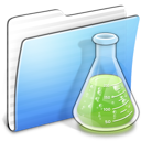 Aqua, Copy, Experiments, Folder, Stripped Icon