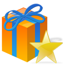 Gift, Present, Star Icon
