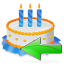 Back, Birthday, Cake Icon