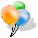 Balloons, Birthday, Party Icon