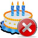 Birthday, Cake, Close Icon