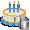 Birthday, Cake, Unlock Icon