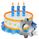 Birthday, Cake, Gear Icon
