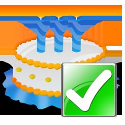 Birthday, Cake, Ok Icon