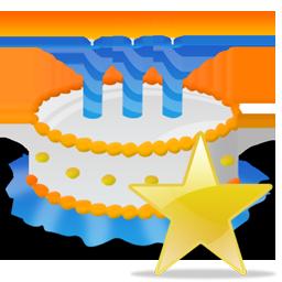 Birthday, Cake, Star Icon