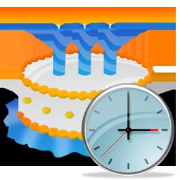 Birthday, Cake, Clock Icon