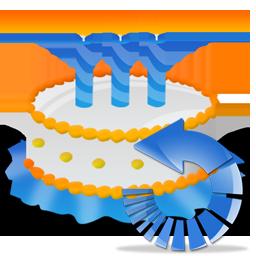 Birthday, Cake, Reload Icon