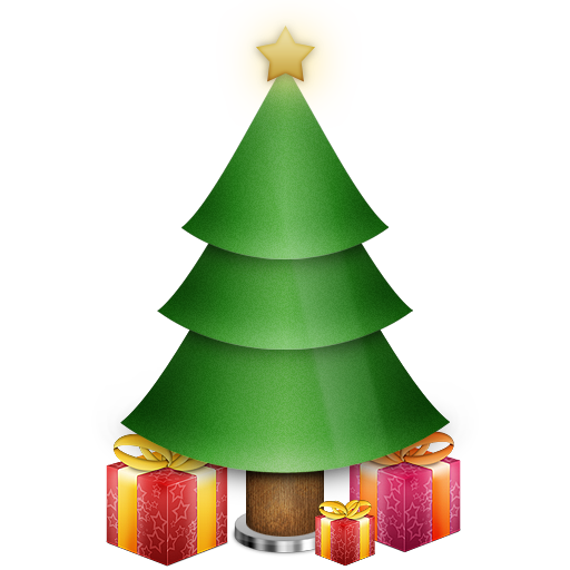 Christmas, Gifts, Presents, Tree Icon