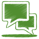 Chat, Green Icon