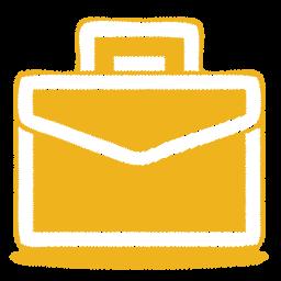 Brief, Case, Work, Yellow Icon