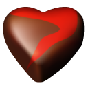 Chocolate, Hearts Icon