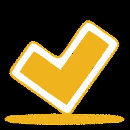 Check, Yellow Icon