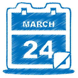 Blue Calendar Date Event Icon Download Free Icons