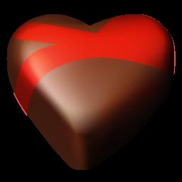 Chocolate, Hearts Icon