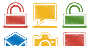 Origami Colored Pencil Icons